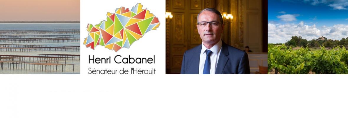 Henri Cabanel Sénateur de l'Hérault